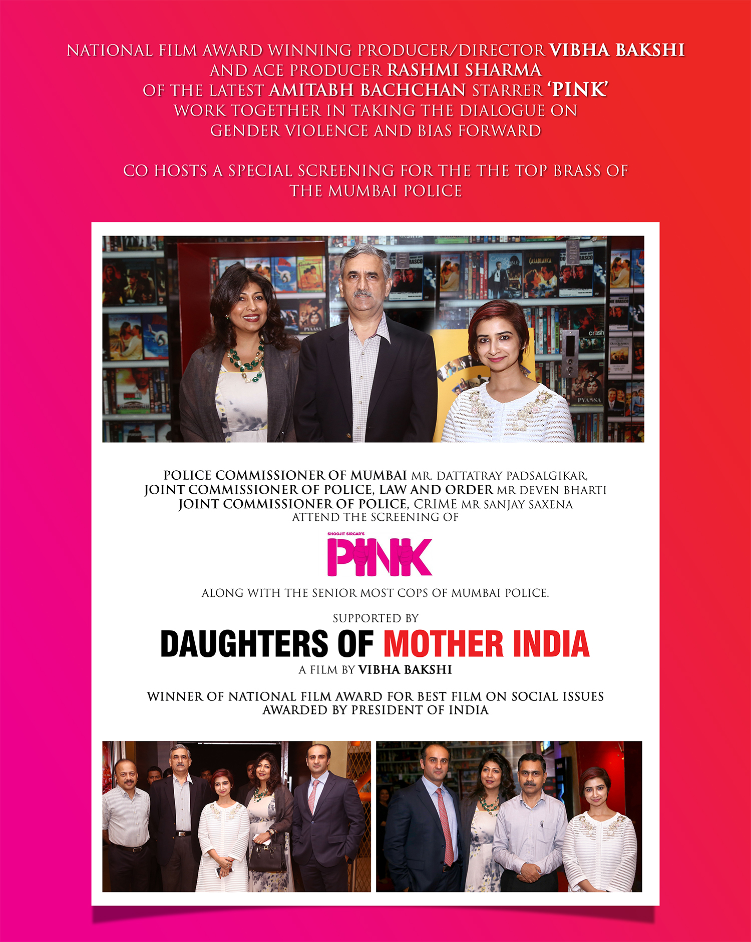 Special screening of 'Pink' held for Mumbai Police